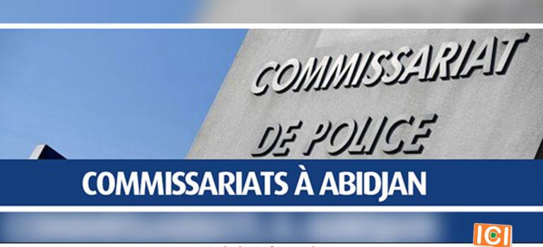 Les Commissariats de Police de la ville d'Abidjan